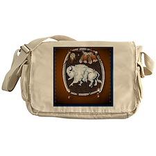 White Buffalo Shield -brown_pillow Messenger Bag