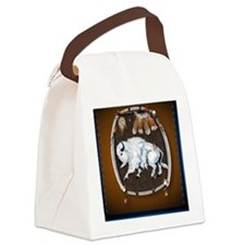 White Buffalo Shield -brown_pillo Canvas Lunch Bag