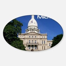 Lansing MI Cover Sticker (Oval)
