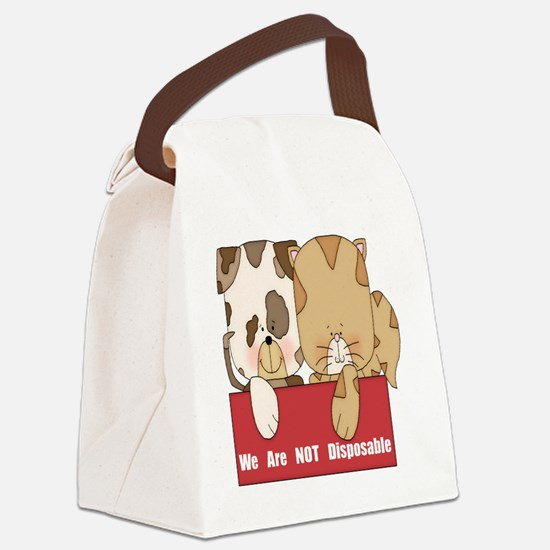 we are not disposable-001 Canvas Lunch Bag