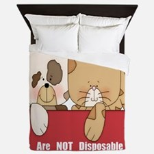 we are not disposable-001 Queen Duvet