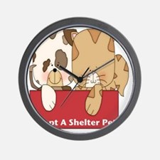 adopt a shelter pet-001 Wall Clock