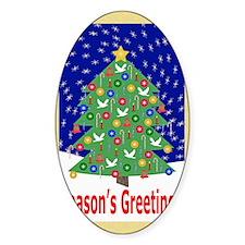 Seasons Greetings  Cristmas Tree Po Decal