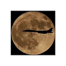 """(1) B-1B Moon Flight Square Sticker 3"""" x 3"""""""