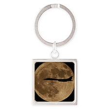 (15) B-1B Moon Flight Square Keychain