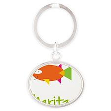 Maritza-the-big-fish Oval Keychain
