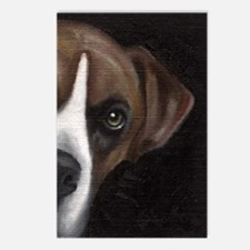 Boxer Face Postcards (Package of 8)