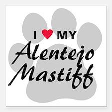"""I Love My Alentejo Masti Square Car Magnet 3"""" x 3"""""""