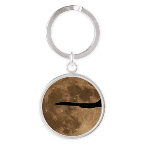 (7) B-1B Moon Flight Round Keychain