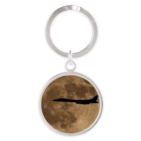 (15s) B-1B Moon Flight Round Keychain