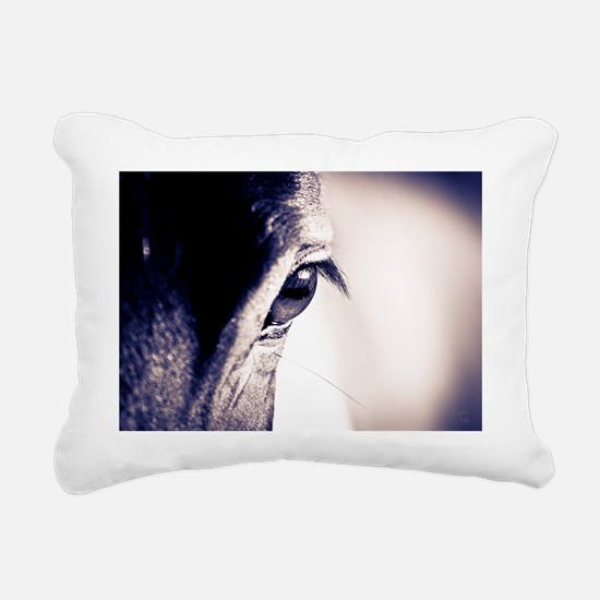 The Wisdom of the Horse Rectangular Canvas Pillow