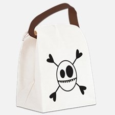 SKELLY-HEARTS Canvas Lunch Bag