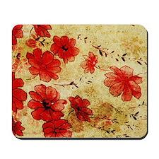 Red Grunge Laptop Mousepad