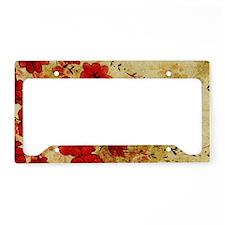 Red Grunge Laptop License Plate Holder