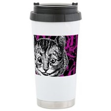 cheshirecat-pink-2 Travel Coffee Mug