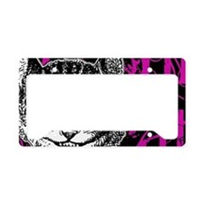 cheshirecat-pink-2 License Plate Holder