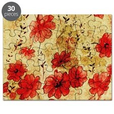 Red Grunge Pillow Puzzle