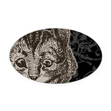cheshirecat-2 Oval Car Magnet
