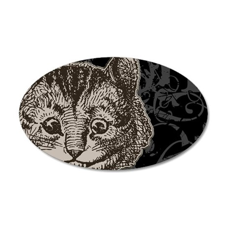 cheshirecat-2 35x21 Oval Wall Decal