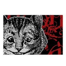 cheshirecat-red-2 Postcards (Package of 8)