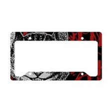 cheshirecat-red-2 License Plate Holder