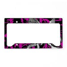 jabberwocky-pink-2 License Plate Holder