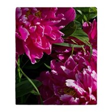 Peonies Together Throw Blanket