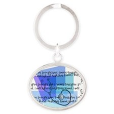i will survive nursing school blue Oval Keychain