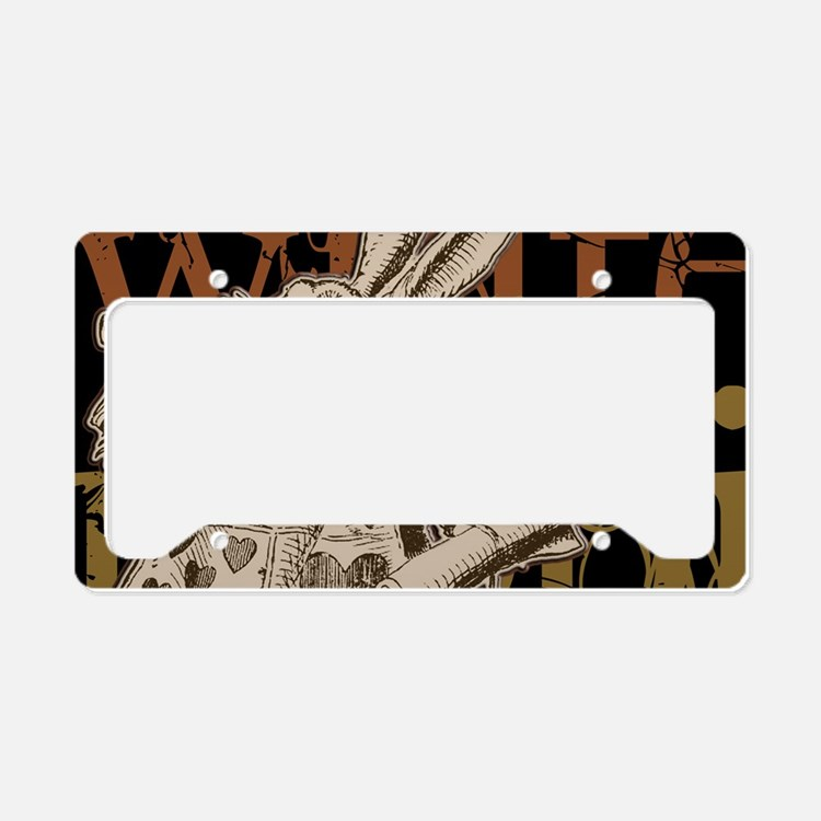 whiterabbit-bronze-2 License Plate Holder