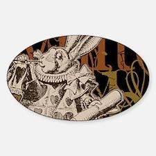 whiterabbit-bronze-2 Sticker (Oval)