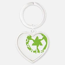 RECYCLEDTEENdrk copy Heart Keychain