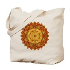 Orange Gold Yoga Mandala Shirt Tote Bag
