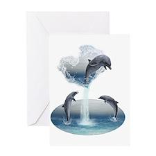 delfin2_2_tshirt Greeting Card