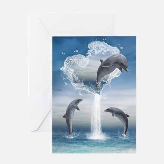 dolphins_5x8_journal Greeting Card