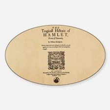 Quarto-Hamlet Sticker (Oval)