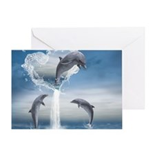 dolphins_16_pillow Greeting Card