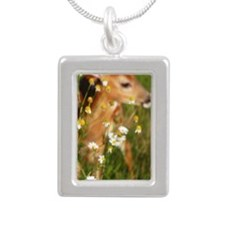 deer journal Silver Portrait Necklace