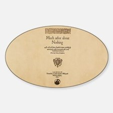 Quarto-Much-Ado-About-Nothing Sticker (Oval)