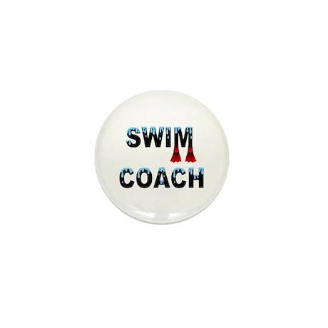Swim Coach Mini Button