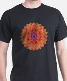 Purple Pink Yoga Mandala Shirt T-Shirt