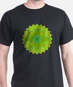 Green Yellow Earth Mandala Shirt T-Shirt