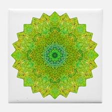 Green Yellow Earth Mandala Shirt Tile Coaster