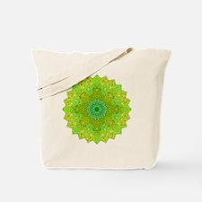 Green Yellow Earth Mandala Shirt Tote Bag