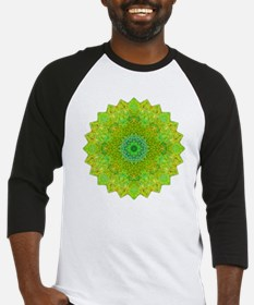 Green Yellow Earth Mandala Shirt Baseball Jersey