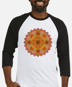Orange Yoga Mandala Shirt Baseball Jersey