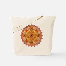Orange Yoga Mandala Shirt Tote Bag