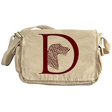 GraphicDHeadRedBrown Messenger Bag