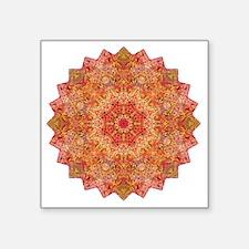 "Earth Mandala Yoga Shirt Square Sticker 3"" x 3"""
