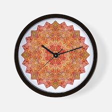 Earth Mandala Yoga Shirt Wall Clock