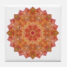 Earth Mandala Yoga Shirt Tile Coaster